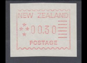 Neuseeland Frama-ATM 1. Ausgabe 1984, Mi.-Nr. 1 , Porto-Wertstufe 00,30 **