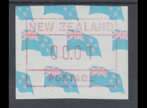 Neuseeland Frama-ATM 3. Ausgabe 1988 Landesflagge Kleinwert 00.01 **, Mi.-Nr. 3