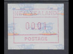 Neuseeland Frama-ATM 4. Ausgabe 1990 Wasserflugzeug **, Mi.-Nr. 5