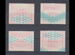 Neuseeland Frama-ATM Maori-Kunst 1992, Mi-Nr 6 Serie 4 ATM fortlaufende Muster