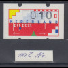 Niederlande Klüssendorf-ATM 1989 , Mi.-Nr. 1 ** mit rückseitiger Zählnummer