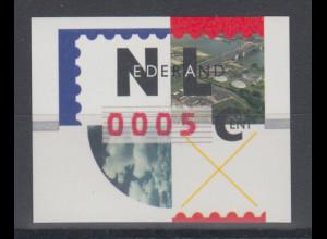 Niederlande ATM Flusslandschaft, roter Nadeldruck NAGLER, Mi.-Nr. 2.2