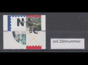 Niederlande ATM Flusslandschaft, schw. Thermo-Druck HYTECH, Mi.-Nr. 2.3 mit ZN