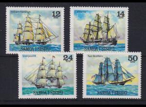 Samoa I Sisifo 1980 Mi.-Nr. 423-426 postfrisch ** / MNH Segelschiffe