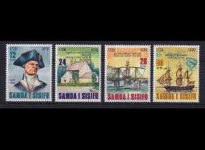 Samoa I Sisifo 1978 Mi.-Nr. 376-379 postfrisch ** / MNH James Cook