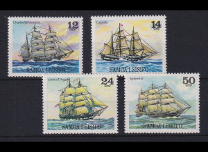 Samoa I Sisifo 1979 Mi.-Nr. 403-406 postfrisch ** / MNH Segelschiffe