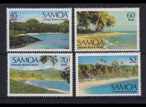 Samoa I Sisifo 1987 Mi.-Nr.617-620 postfrisch ** / MNH Landschaften