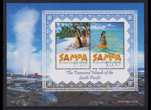 Samoa I Sisifo 2002 Mi.-Nr. Block 69 postfrisch ** / MNH Landschaften