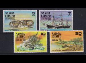 Samoa I Sisifo 1989 Mi.-Nr. 214-217 postfrisch ** / MNH Apia-Wirbelsturm