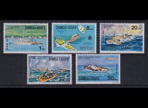 Samoa I Sisifo 1975 Mi.-Nr. 314-318 postfrisch ** / MNH Joyita-Schiffsunglück