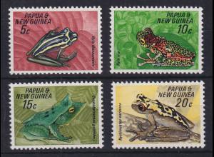 Papua Neu Guinea 1968 Frösche Satz Mi.-Nr. 131-134 **
