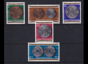 Papua Neu Guinea 1975 Neue Währung Satz Mi.-Nr. 283-287 **