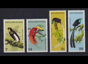 Papua Neu Guinea 1973 Paradiesvögel Satz Mi.-Nr. 240-243 **