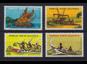 Papua Neu Guinea 1975 Traditionelle Boote Satz Mi.-Nr. 279-282 **