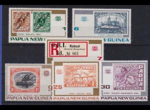 Papua Neu Guinea 1973 Historische Briefmarken Satz Mi.-Nr. 262-267 **