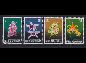 Papua Neu Guinea 1974 Orchideen Satz Mi.-Nr. 275-278 **