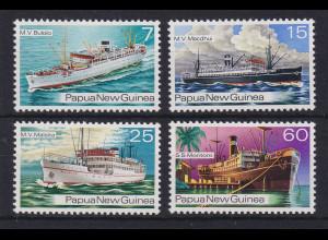 Papua Neu Guinea 1976 Schiffe der 30er Jahre Satz Mi.-Nr. 298-301 **