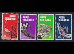 Papua Neu Guinea 1979 Kanus und Paddel Satz Mi.-Nr. 364-367 **