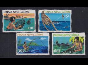 Papua Neu Guinea 1981 Fischfang Satz Mi.-Nr. 418-421 **