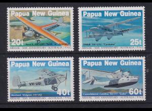 Papua Neu Guinea 1984 Post-Flugzeuge Satz Mi.-Nr. 473-476 **