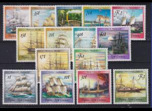 Papua Neu Guinea 1987/88 Schiffe 3 Sätze Mi.-Nr. 543-547, 561-566, 580-583 **
