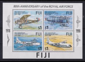 Fiji 1998 Mi.-Nr. Block 25 postfrisch ** / MNH Flugzeuge Air Force
