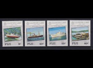 Fiji 1984 Mi.-Nr. 499-502 Lloyd's List postfrisch ** / MNH Schiffe