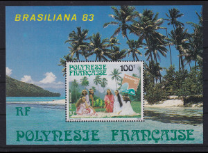 Französisch-Polynesien 1983 Polynesierinnen Mi.-Nr. Block 7 **