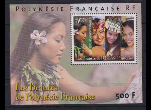 Französisch-Polynesien 2000 Schöne Polynesierinnen Mi.-Nr. Block 25 **