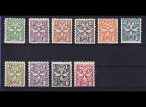 Malta 1968 Portomarken Mi.-Nr. 28-37 B postfrisch **