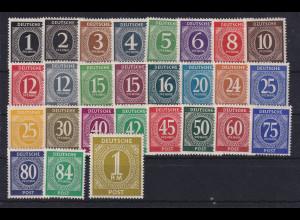 All. Besetzung 1946 Ziffernserie Mi.-Nr. 911-937 37 Werte kpl. postfrisch **