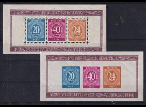 All. Besetzung 1946 Briefmarkenausstellung Berlin Mi.-Nr. Blocks 12 A und B **