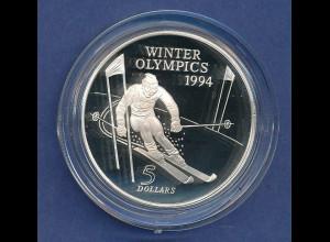Neuseeland 1970 Mount Cook (Aorangi) 1 Dollar