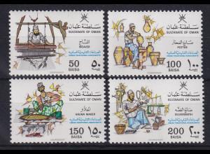 Oman 1988 Traditionelles Handwerk Mi.-Nr. 317-320 postfrisch **