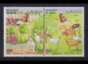 Oman 1988 Nationalfeiertag Paar Mi.-Nr. 328-329 postfrisch **