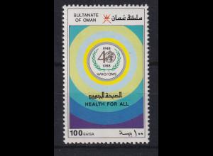 Oman 1988 40 Jahre Weltgesundheitsorganisation WHO Mi.-Nr. 327 postfrisch **