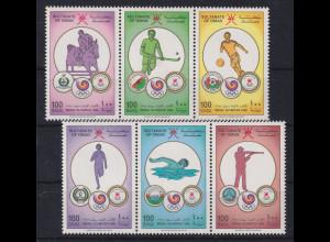Oman 1988 Olympische Spiele Seoul Mi.-Nr. 321-326 postfrisch **