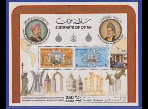 Oman 1986 100 Jahre Freiheitsstatue in New York Mi.-Nr. Block 2 postfrisch **