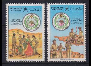 Oman 1986 Arabisches Pfadfinder-Treffen Mi.-Nr. 296-297 postfrisch **