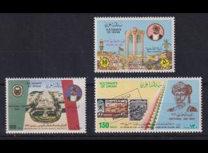 Oman 1986 Nationalfeiertag Mi.-Nr. 300-302 postfrisch **