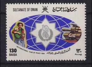 Oman 1986 Internationales Jahr des Friedens Mi.-Nr. 299 postfrisch **