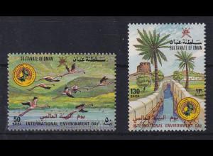 Oman 1987 Internationaler Tag für Umweltschutz Mi.-Nr. 305-306 postfrisch **