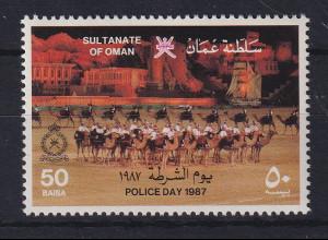 Oman 1987 Tag der Polizei Mi.-Nr. 303 postfrisch **