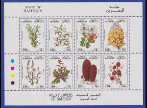 Bahrain 1993 Einheimische Wildblumen Kleinbogen Mi.-Nr. 515-522 postfrisch **
