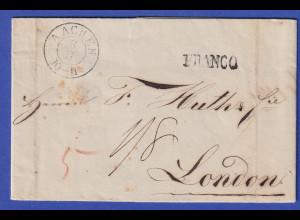 Preußen Geschäftsbrief mit Zweikreisstempel Aachen 1840