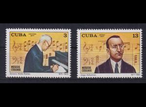 Cuba / Kuba 1977 Kubanische Musiker Mi.-Nr. 2215-2216 postfrisch **