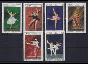 Cuba / Kuba 1967 Internationales Ballett-Festival Mi.-Nr. 1302-1307 **
