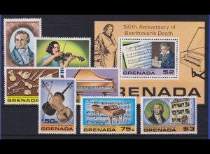 Grenada 1978 Ludwig van Beethoven Mi.-Nr. 904-910 und Block 733 **