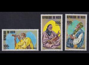 Niger 1978 Talentierte Musiker Mi.-Nr. 647-649 postfrisch **