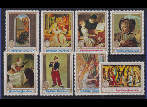 Ruanda 1969 Musikdarstellungen auf Gemälden Mi.-Nr. 317-324 A postfrisch **